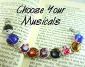 Broadway Charm Bracelet, Broadway Jewelry, Broadway Musicals, Off Broadway, Broadway Gift, Broadway Theme