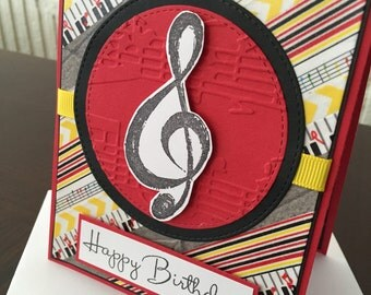 Music Themed Birthday Card