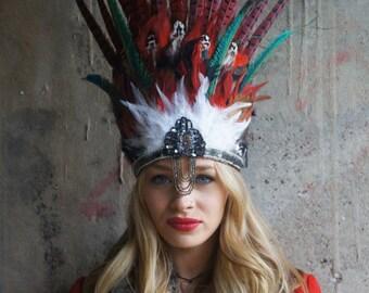 Statement Feather Headdress