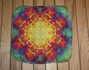 Waldorf inspired Rainbow Mandala Play Silk