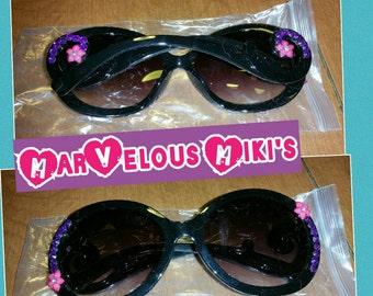 Hand decorated sunglasses! Hot hot hot!