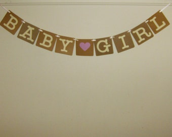Baby Girl banner, Baby Banner, Girl Banner, Baby Shower, Welcome Baby, New Baby, Newborn, It's A Girl Baby Banner