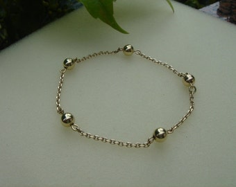 Bracelet with balls in 585-er gold (14 K)! Noble & delicate!