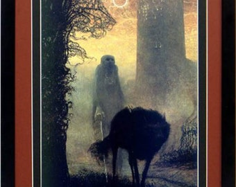 Framed Beksinski Art Poster Wolf Walker