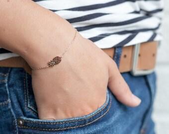 Pineapple Bracelet in Silver.  Fruit Bracelet.  Pineapple Jewelry. Silver or Gold Fill