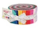 "Grunge fabric jelly roll 2 1/2"" strips by BasicGrey for Moda Fabric"