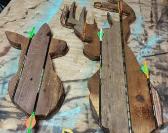 CUSTOM - Reclaimed Wood Art - Deer-  Old Wood New Art - Trophy Buck - Hunting Season - Buck Antlers - Barnwood Art - Gun and Bow Hunting