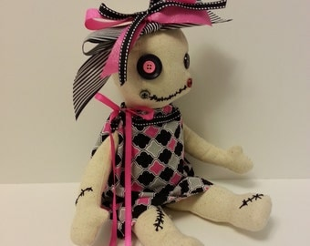 Soft Sculpture Doll, Voodoo Doll, Art Doll
