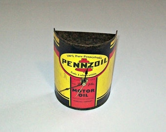 Pennzoil Reproduction Cut-a-Way Motor Oil Can Repurposed Wall Clock