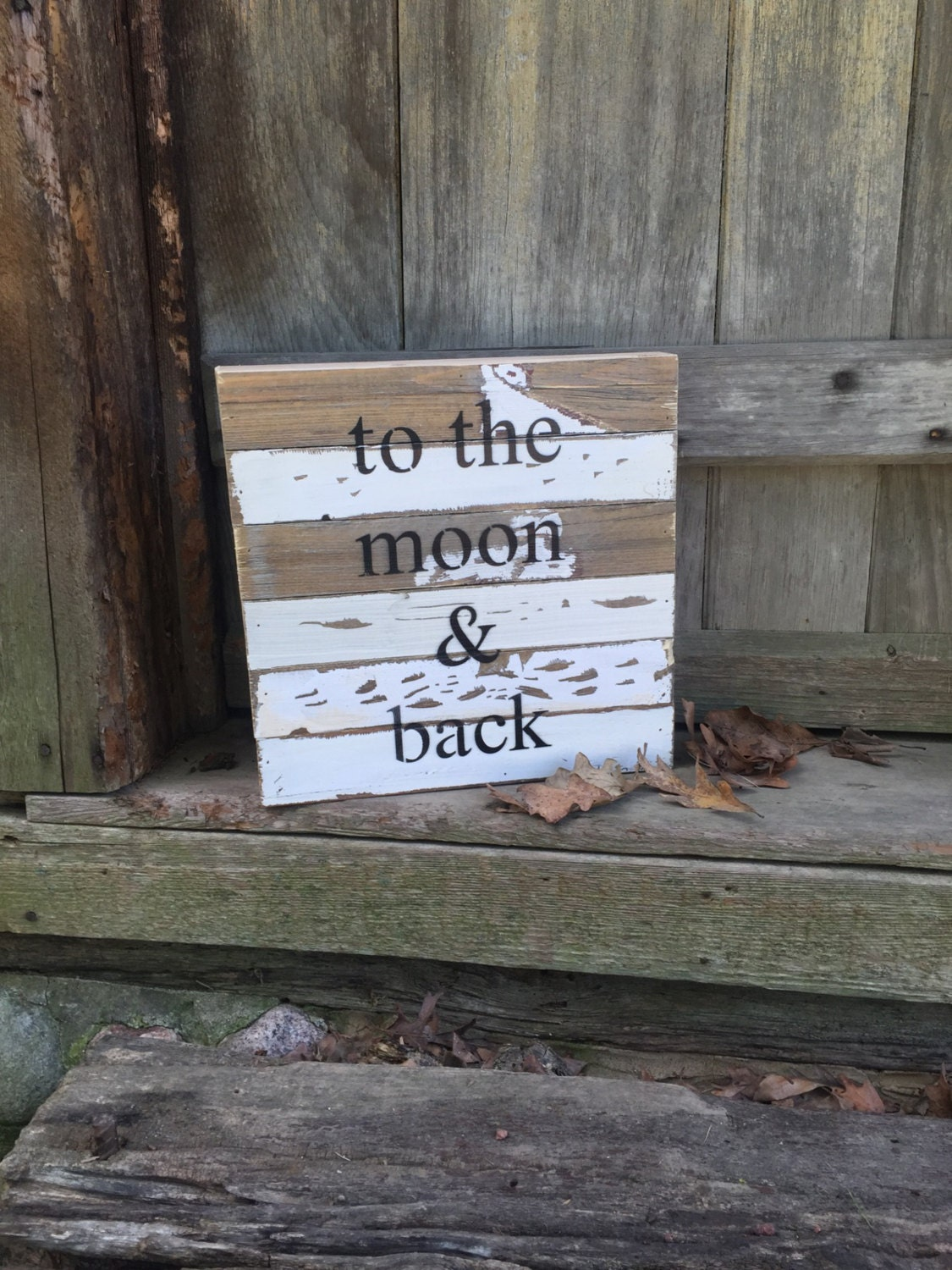 To The Moon And Back sign Wooden signs with quotes reclaim