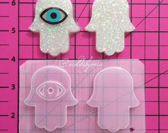 ON SALE Hamsa hand flexible plastic resin mold 3 options