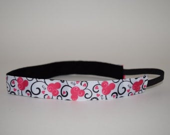 Mickey Mouse Flowered Headband- Minnie Mouse Headband- Disney Headbands- Mickey Mouse Headband- Minnie Mouse Headband