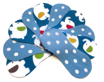 Fleece Nappy Liners Reusable & Washable For Cloth Nappies x10