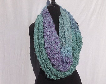 Super Soft Infinity Scarf in Turquoise and Purple