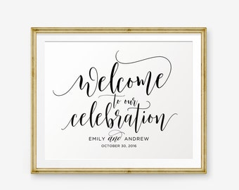 Personalized Wedding Sign, Welcome To Our Celebration, Wedding Printable, Wedding welcome sign, Wedding Sign, Wedding Decor