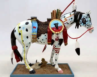 Very Rare First Edition --The Trail Of Painted Ponies -- War Pony Figurine (Retired February 2013)