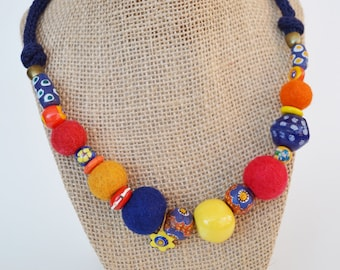 Handemade necklace-Colorful mix-