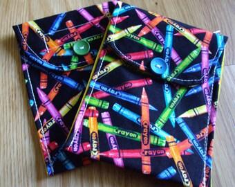 Reusable Snack Bag, Pet treats bag, Crayon bag, Snack bag, Reusable, ECO Friendly, PUL, Bagel bag, Small Sandwich Bag, Snacks, Small wet bag