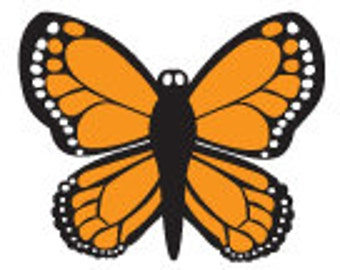 Butterfly Peg Rubber Stamp
