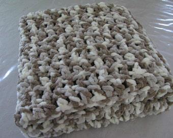 "Crochet Baby Lap Blanket Warm Blanket Baby Blanket Cuddley Lap Blanket 30"" By 36"" Ready To Ship"