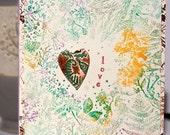 HANDMADE GREETING CARD   Anniversary Love Valentine's Day Heart Copper Love