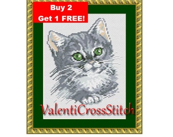 CAT cross stitch pattern, cross stitch cat, counted cross stitch cat, cross stitch patterns, cross stitch pattern