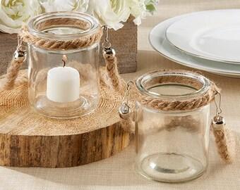 Rope Tealight - Nautical Candle Holder - Wedding centerpiece - Reception Centerpiece - Table decor - Wedding Decor - Rustic Wedding - Beach