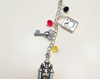 Mickey Mouse Minnie Mouse Disney World Disneyland Disney Inspired Zipper Notebook Journal Planner Charm