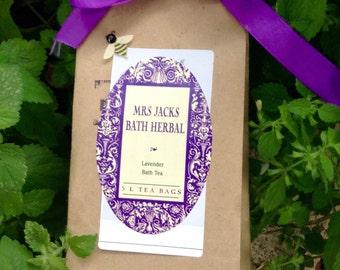 Lavender Herbal Bath Tea, Bath Tea, Organic, Natural, Herbal Bath Tea, 5 L tea bags