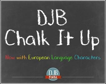 DJB Chalk It Up Font (Single User Commercial License)