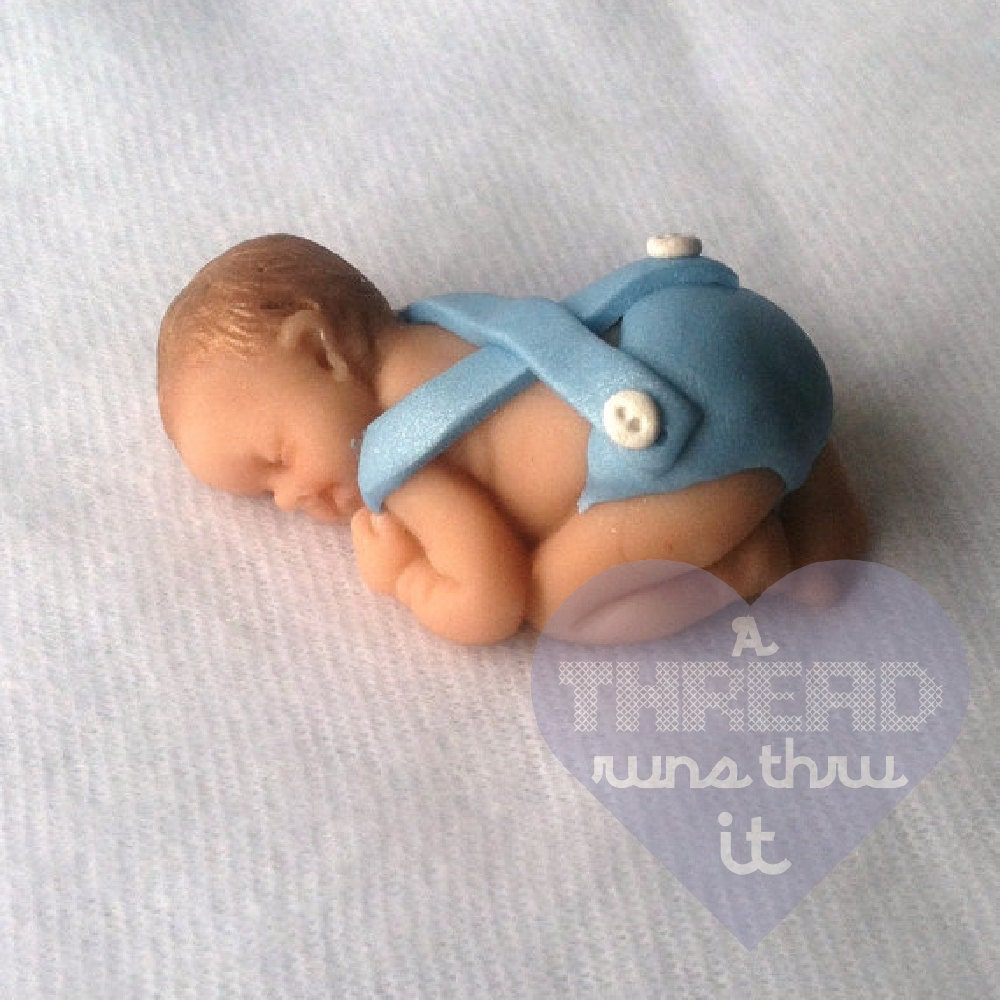 Cake Toppers Baby Boy : Baby Boy Baby Shower Cake Topper Baby Boy by AThreadRunsThruIt