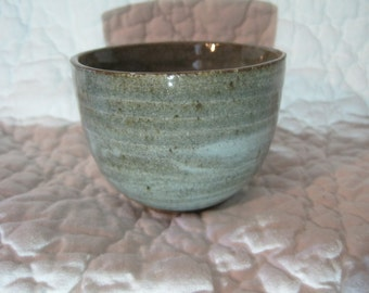 wheel thrown ceramic swirled cup