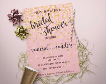 bridal shower invitation, printable bridal shower invitation, bridal shower invite br53