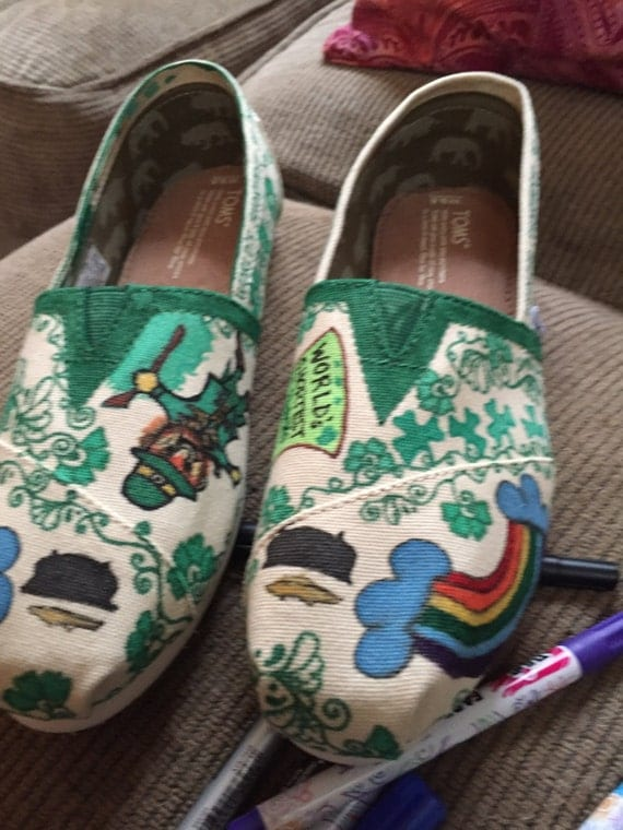 custom decorated canvas shoes toms vans chatties