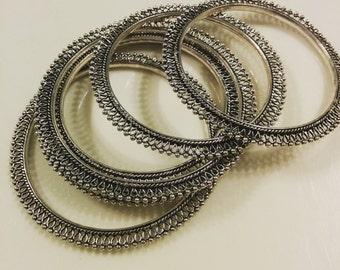 German silver Indian bangles