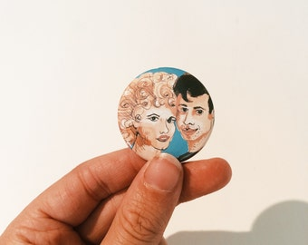 Original Pin, Button, Grease, Danny, Sandy