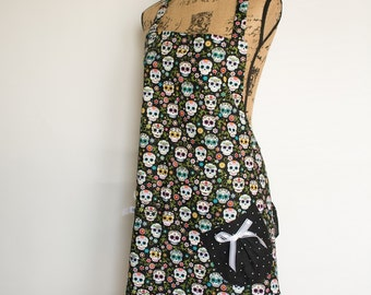 Floral Day of the Dead Apron