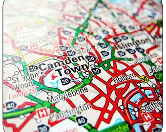 Camden Town - London Map Coasters