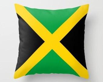Jamaica Pillow Cover Jamaica Flag Pillow Jamaica Pillow Jamaica Indoor Pillow Jamaica Outdoor Pillow Rasta Bob Marley Pillow