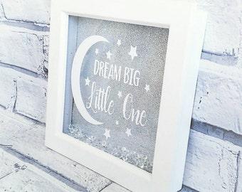 Dream big little one box frame. New Baby Frame. Baby Nursery Frame