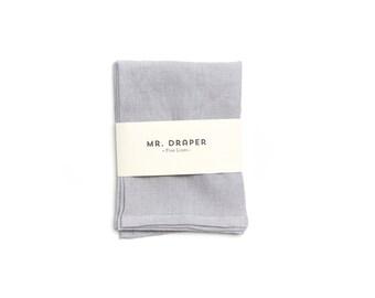 100% Linen Tea Towel in Polar Grey