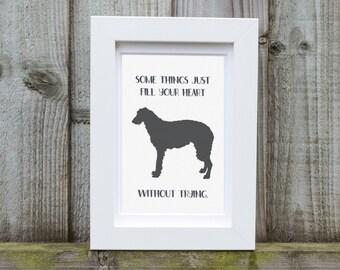 Irish Wolfhound Dog Frame