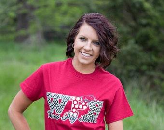 "University of Arkansas ""Wooo Pig Sooie"" Crimson T-Shirt"