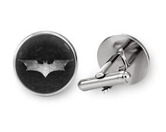 Batman Cufflinks Dark Knight Cufflinks Super Hero Cufflinks Gift For Him (with jewelry box)