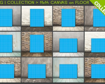 11x14 #C03 PNG Scene Collection Portrait & Landscape Stretched Canvas on Wooden Floors, 12 Print Display PNG scenes, 22x28 33x42, 28x36cm