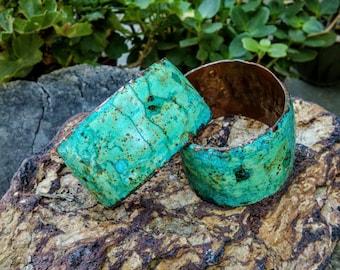 """Marbled Copper Cuff.  6.25"""".  35mm Wide."""