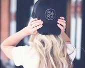 Mama Trucker Hat, MAMA Hat, Mom Hat, Black Mom Hat, Maternity Gift, Baby Shower Gift, Pregnancy Gift, Mom Life Hat, MOMLIFE hat