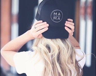 Mama Trucker Hat, MAMA Hat, Mom Hat, Black Mama Hat, Black Mom Hat, Mother, Mama, Mama Life Hat, MOMLIFE hat, Mom trucker hat, Mother Hat