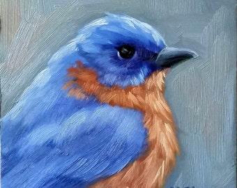Eastern Bluebird - Bluebird - original painting - bird painting - bird art
