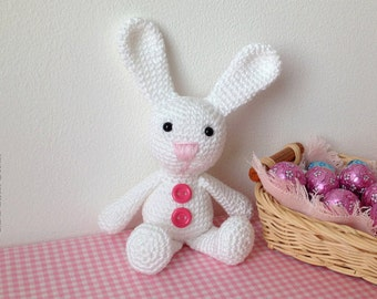 Easter. Easter amigurumi bunny, made in crochet in pure cotton.